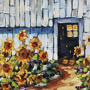 Original  By Artist Paintings - Sunflowers by Prankearts by Richard T Pranke