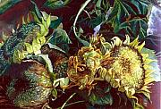 Flowers Pastels - Sunflowers by Cameron Hampton PSA