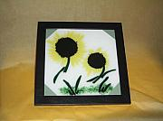 Sunflowers Glass Art - Sunflowers by Craig Gill