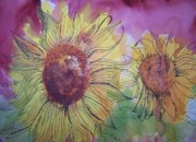 Sandy Collier Prints - Sunflowers III Print by Sandy Collier
