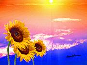 Sunflowers Digital Art - Sunflowers in the Sun by Anthony Caruso