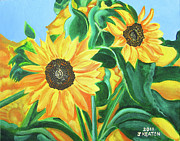 John Keaton Framed Prints - Sunflowers Framed Print by John Keaton
