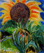 Jon Baldwin Art Paintings - Sunflowers  by Jon Baldwin  Art