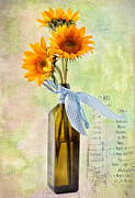 Sunflowers No 402 Print by James Bethanis