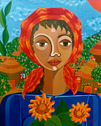 Madalena Lobao-tello Art - Sunflowers of Hope by Madalena Lobao-Tello