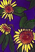 Wayne Potrafka - Sunflowers on Purple