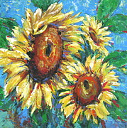Vickie Fears Prints - Sunflowers1 Print by Vickie Fears