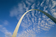 Historic Site Framed Prints - Sunlight Beams On The Gateway Arch Framed Print by Joel Sartore