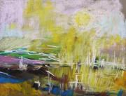 Abstract Expression Pastels - Sunlight  by John  Williams