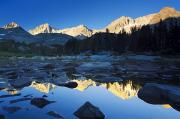 Little Lakes Valley Framed Prints - Sunlight on Eastern Sierras Framed Print by Quincy Dein - Printscapes