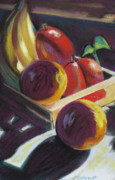 Banana Pastels Prints - Sunlight on Fruit Print by Shirley Galbrecht