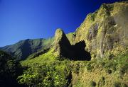 Art Medium Prints - Sunlight on Iao Needle Print by Ray Mains - Printscapes