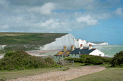 Seven Sisters Framed Prints - Sunlight on the Seven Sisters Framed Print by Donald Davis