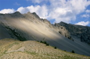 Locations Prints - Sunlight over Izoard Pass among the French Alps Print by Sami Sarkis