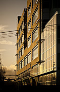 Workplace Framed Prints - Sunlight Reflecting Off of Building Facade Framed Print by Eddy Joaquim
