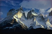 Paine Framed Prints - Sunlight Shines On The Summits Framed Print by George F. Mobley