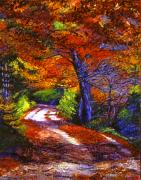 New York State Paintings - Sunlight Through The Trees by David Lloyd Glover