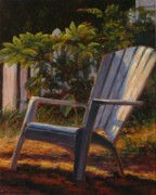 Dappled Light Framed Prints - Sunlit Chair Framed Print by Sonia Kane