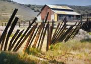 Barns Digital Art - Sunlit Fence by Sharon Foster