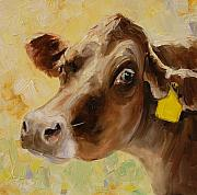 Cows Paintings - Sunlit by Kevin Webster