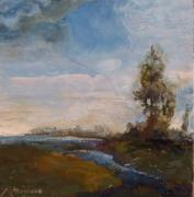 Water Reliefs - Sunlit Stream by Ruth Stromswold