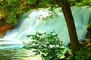 Cathy Leite - Sunlit Waterfall