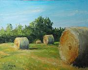 Bales Paintings - Sunner Harvest by Mike Yazel