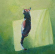 Feline Paintings - Sunning Herself by Kimberly Santini