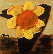 Primitive Drawings - Sunny and Black by Mary Carol Williams