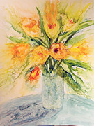 Cut Flowers Paintings - Sunny Bouquet by Joanne Smoley