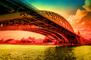 Bridge Pyrography Prints - Sunny Bridge  Print by Gennadiy Golovskoy