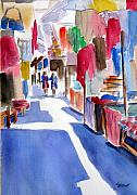 Peru Paintings - Sunny Day at the Market by Marsha Elliott