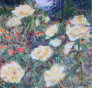Quin Sweetman Paintings - Sunny Day at the Rose Garden by Quin Sweetman