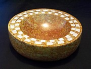 Symmetry Reliefs - Sunny Day Bowl by Jason Nelson