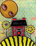 Primitive Art Prints - Sunny Days Print by  Abril Andrade Griffith