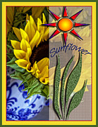 Photo Collage Digital Art Prints - Sunny Days Print by Bonnie Bruno