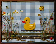 Sunny Duck Print by Gracies Creations
