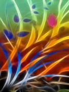 Abstract Composition Digital Art - Sunny Impression by Ann Croon