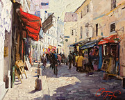Old Street Paintings - Sunny Montmartre by Oleg Trofimoff
