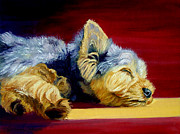 Sunny Patch Yorkshire Terrier Print by Lyn Cook