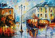 Building Painting Originals - Sunny Rain by Leonid Afremov