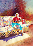 Wine Woman  Paintings - Sunny Retreat 3 by Kathy Braud