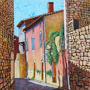 France Mixed Media Originals - Sunny Side of the Street by Pamela Iris Harden