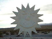 Large Sculpture Metal Prints - Sunny side up Metal Print by Jane Williams