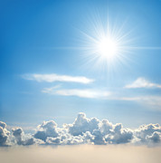 Background Photo Prints - Sunny Sky Print by Carlos Caetano