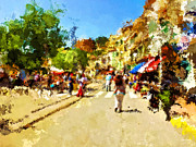 Johnny Trippick Prints - Sunny Spanish Street Print by Johnny Trippick