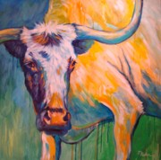 Longhorn Paintings - Sunny by Theresa Paden