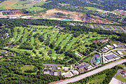 Plymouth Meeting Aerials Prints - Sunnybrook Golf Club Golf Course 398 Stenton Avenue Plymouth Meeting PA 19462 1243 Print by Duncan Pearson