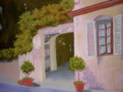 Street Scene Pastels - Sunnyside Of The Street by Curt Peifley