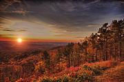 Sunrise 2-talimena Scenic Drive Arkansas Print by Douglas Barnard